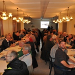 Innan lottdragningen söndag den 3 november så hade alla samlats i Mäshults matsal